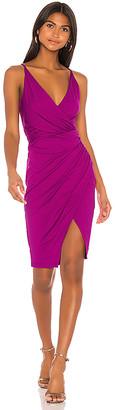 Susana Monaco Gathered Wrap Font Slit Dress