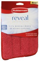 """Rubbermaid Reveal Mop Microfiber Cleaning Pad, Red, 15"""" Wide (2-Pack)"""