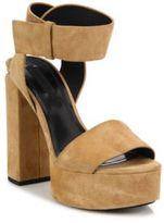 Alexander Wang Keke Suede Tilt-Heel Platform Sandals