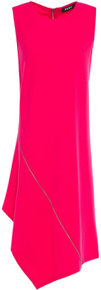 DKNY Asymmetric Zip-detailed Crepe-jersey Dress