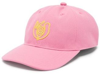 eye/LOEWE/nature Eye-logo Canvas Baseball Cap - Pink