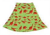 Urban Smalls Green & Red Dinosaur Skater Skirt - Toddler & Girls