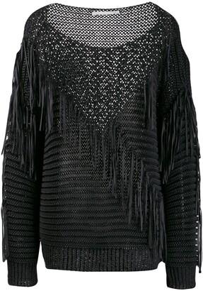 Stella McCartney Fringed Knit Mix Sweater