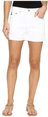 AG Jeans Hailey Boyfriend Shorts in White (White) Women's Shorts