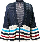 Antonio Marras embellished striped cardigan - women - Cotton/Polyester/glass - XS