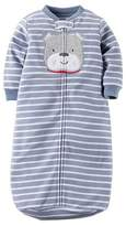 Carter's Baby Boy's 0-9 Months Striped Puppy Dog Fleece Sleepsack, Sleeper