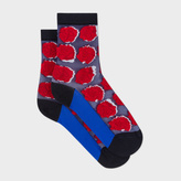 Paul Smith Women's Navy Rose Socks