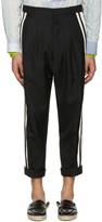 Haider Ackermann Black Wool Stripe Trousers