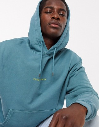 Topman santa monica hoody in washed green