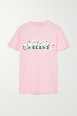 Casablanca Printed Cotton-jersey T-shirt - Pink