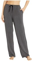 Donna Karan Modal Spandex Jersey Long Pants (Charcoal Heather) Women's Pajama