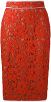 MSGM lace pencil skirt - women - Cotton/Polyamide/Polyester/Viscose - 42