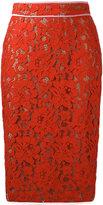 MSGM lace pencil skirt - women - Cotton/Polyamide/Viscose/Polyester - 40