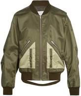 Maison Margiela Contrast-pocket satin bomber jacket