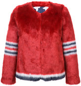 Mother furry number print jacket