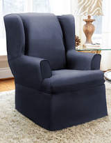 Sure Fit Twill Wrap Style Wing Chair Slipcover