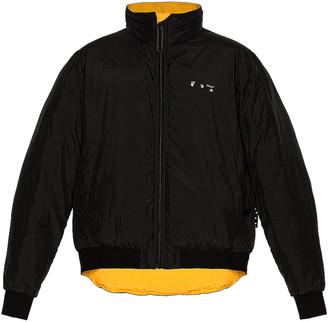 Off-White Arrow Revers Light Puffer Jacket in Black & White | FWRD