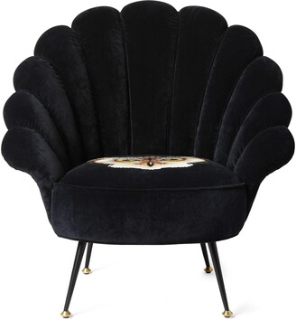 Gucci Velvet armchair with embroidered owl