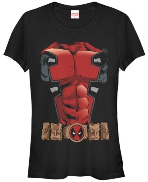 Fifth Sun Marvel Women's Dead Pool Comic Halloween Costume Short Sleeve Tee Shirt
