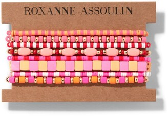 Roxanne Assoulin Color Therapy Pink bracelet set