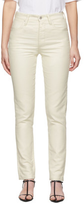 Jil Sander White Slim Five-Pocket Jeans