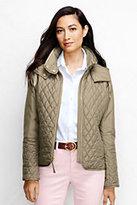 Lands' End Women's Petite Quilted Primaloft Jacket-Antique Spruce
