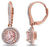 Swarovski Golden Nyc Golden NYC Women's Earrings in - Morganite & 18K Rose Gold-Plated Pave Earrings With Crystals