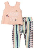 Jessica Simpson Embroidered Tank & Printed Legging 2-Piece Set (Baby Girls)
