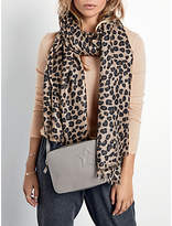 Hush Leopard Cashmere Scarf, Brown