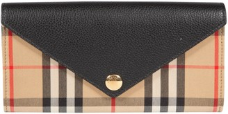 Burberry Envelope Button-snap Continental Wallet