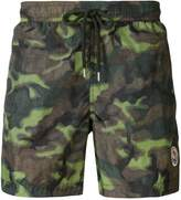Moncler camouflage print swimming trunks