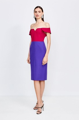 Karen Millen Colourblock Forever Bardot Dress