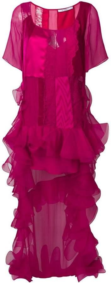 Givenchy long ruffle-trim dress