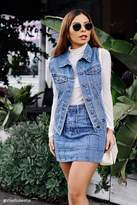 Forever 21 Frayed Denim Vest