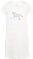 John Lewis Children's Horse Applique Nightdress, White