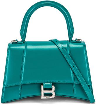 Balenciaga Small Hourglass Top Handle Bag in Dark Turquoise | FWRD