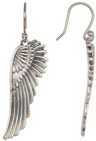 Lucky Brand Silver-Tone Feather Earrings