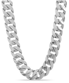 Catherine Malandrino Flat Link Chain Necklace in Silver-Tone Alloy