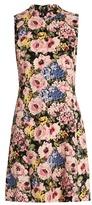 Rebecca Taylor Floral-print sleeveless crepe dress