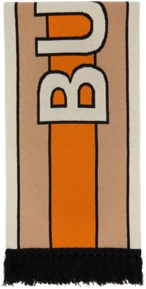 Burberry Multicolor Jacquard Logo Scarf