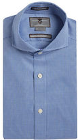 Black Brown 1826 Slim Fit Houndstooth Dress Shirt