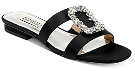 Badgley Mischka Women's Josette Embellished Slip On Sandals