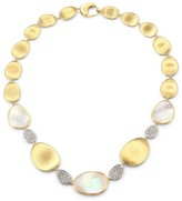 Marco Bicego Lunaria 18K Yellow Gold, Mother-of-Pearl & Diamond Pave Station Necklace