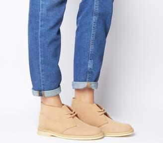 Clarks Desert Boots Light Tan Suede