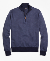 Brooks Brothers Herringbone Half-Zip Sweater