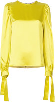 MSGM tie sleeve blouse - women - Acetate/Viscose - 40