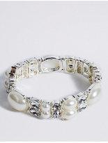 M&S Collection Pearl Effect Sparkle Bracelet