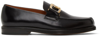 Lanvin Black Swan Loafers