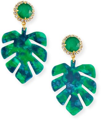 Elizabeth Cole Chloe Leaf-Drop Earrings