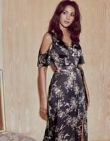Lipsy Love Michelle Keegan Floral Satin Tie Maxi Dress